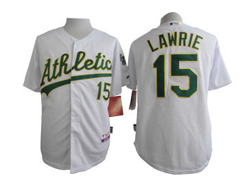 MLB Oakland Athletics 15 Brett Lawrie White 2015 Jerseys