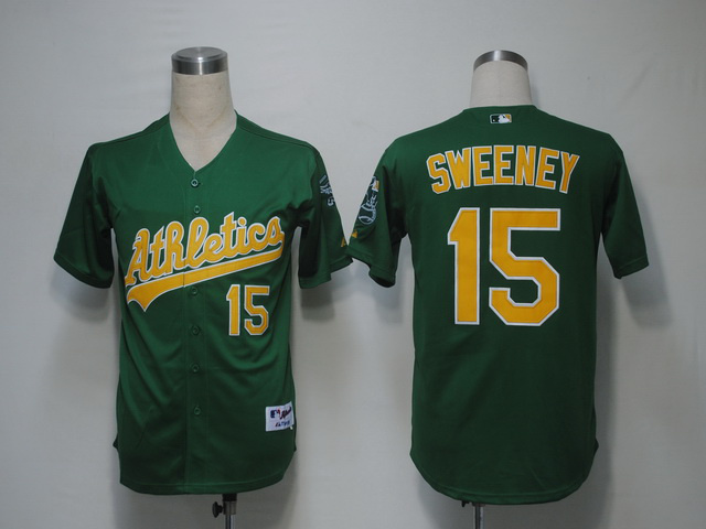 MLB Oakland Athletics 15 Sweeney Green Jerseys