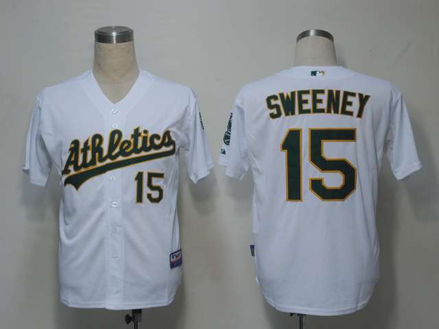MLB Oakland Athletics 15 Sweeney White Jerseys