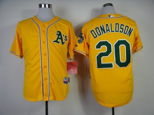 MLB Oakland Athletics 20 Donaldson Yellow 2015 Jerseys