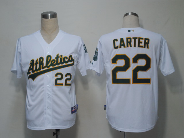 MLB Oakland Athletics 22 Carter White Jerseys