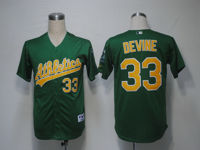 MLB Oakland Athletics 33 Devine Green Jerseys