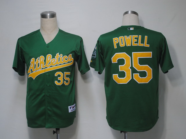 MLB Oakland Athletics 35 Powell Green Jerseys