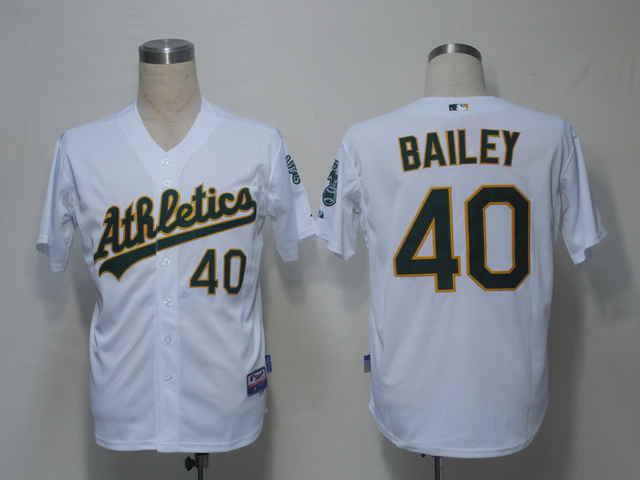 MLB Oakland Athletics 40 Bailey White Jerseys