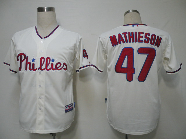 MLB Philadelphia Phillies 47 Mathieson Gream Jerseys