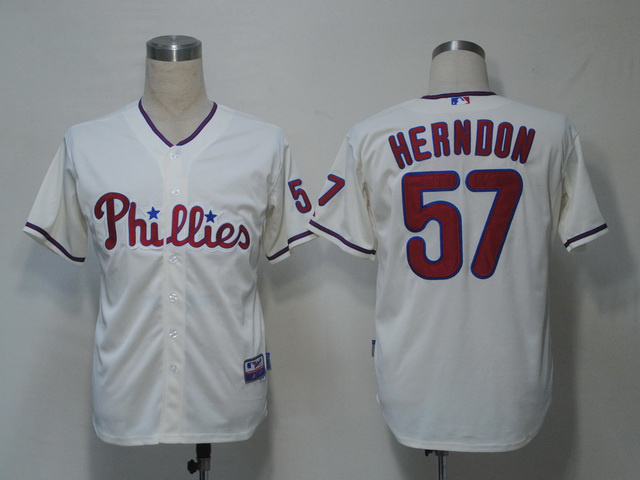 MLB Philadephia Phillies 57 Herndon Gream Jerseys