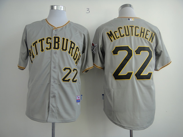 MLB Pittsburgh Pirates 22 Adnrew McCutchen Gray Grey Cool Base Jerseys