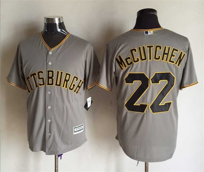 MLB Pittsburgh Pirates 22 Andrew McCutchen Grey 2015 Jerseys