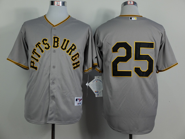 MLB Pittsburgh Pirates 25 Gregory Polanco Gray 1953 Turn Back The Clock