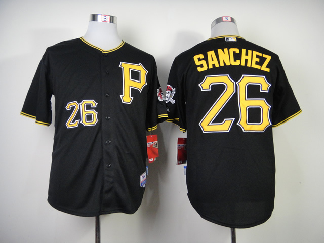 MLB Pittsburgh Pirates 26 Sanchez Black Jerseys
