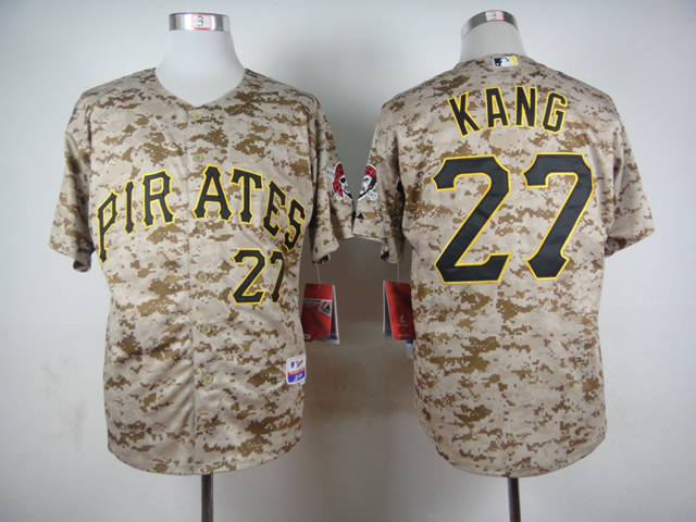 MLB Pittsburgh Pirates 27 Jung Ho Kang Camo 2015 Jerseys