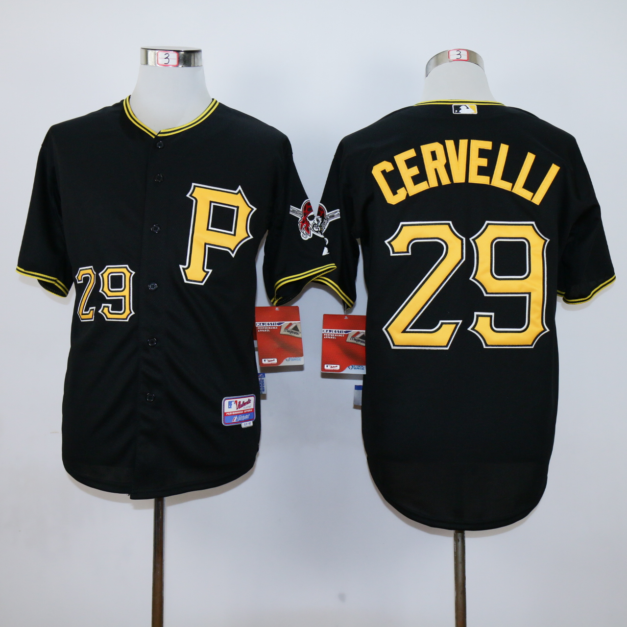 MLB Pittsburgh Pirates 29 Cervelli Black jerseys