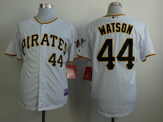 MLB Pittsburgh Pirates 44 Tony Watson White Jerseys