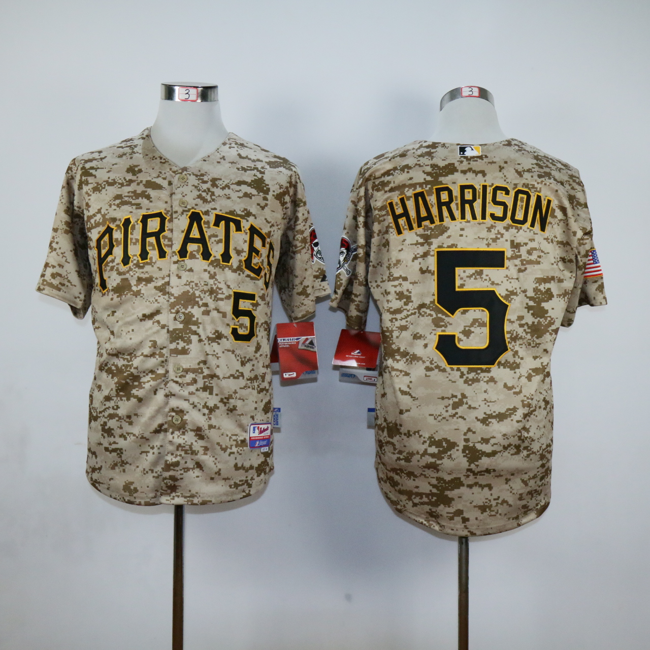 MLB Pittsburgh Pirates 5 Josh Harrison Camo Jerseys