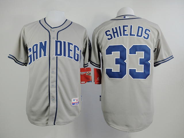 MLB San Diego Padres 33 James Shields Gray 2015 Jerseys