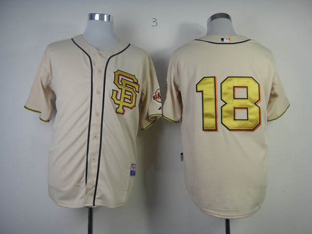 MLB San Francisco Giants 18 Matt Cain Commemorative Gold Jersey