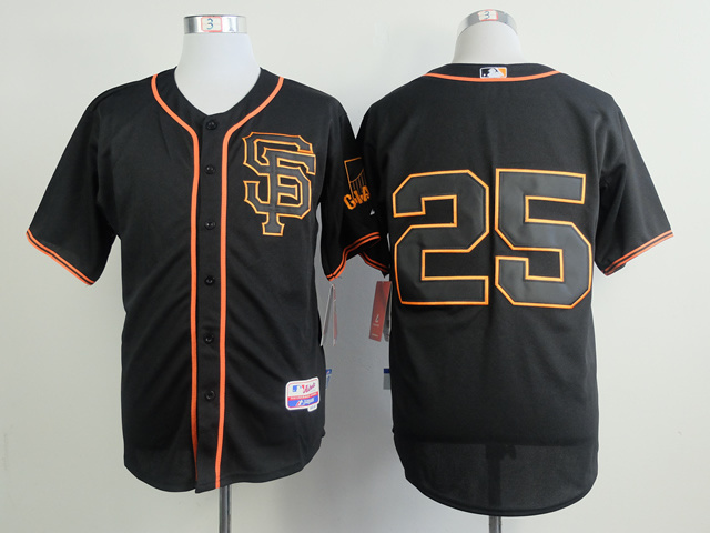 MLB San Francisco Giants 25 Bonds Black Jerseys