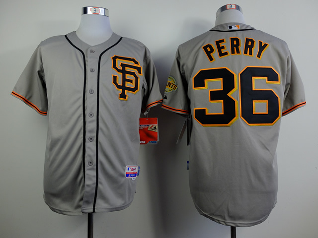 MLB San Francisco Giants 36 Gaylord Perry Grey Jerseys