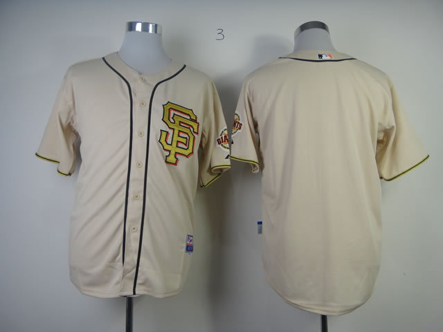 MLB San Francisco Giants Blank Commemorative Gold Jersey