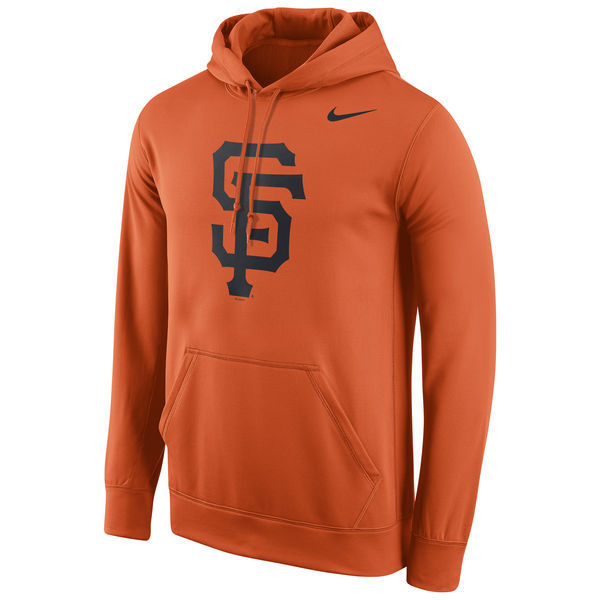 MLB San Francisco Giants Nike Logo Performance Pullover Hoodie - Orange