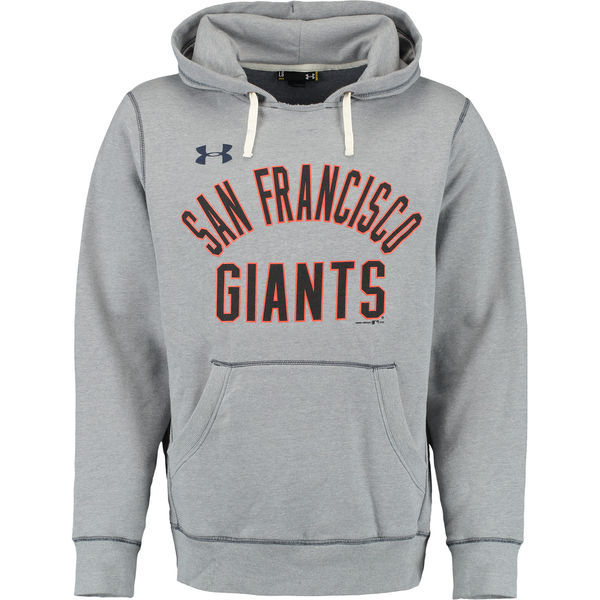 MLB San Francisco Giants Under Armour Legacy Fleece Hoodie - Gray