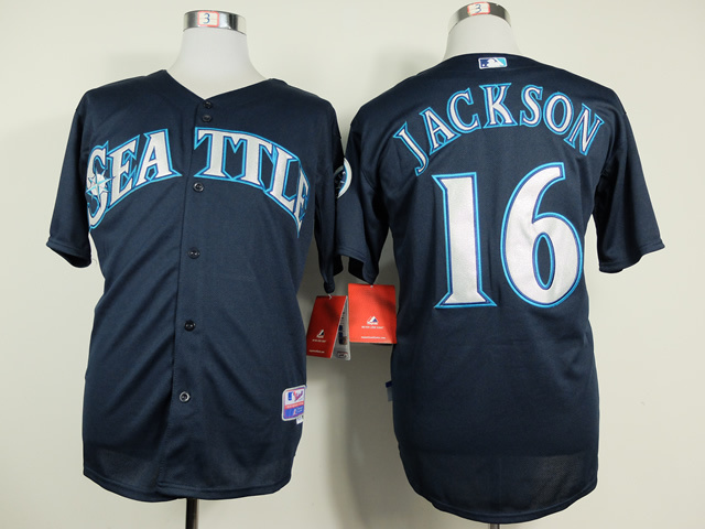MLB Seattle Mariners 16 Austin Jackson Blue Jerseys