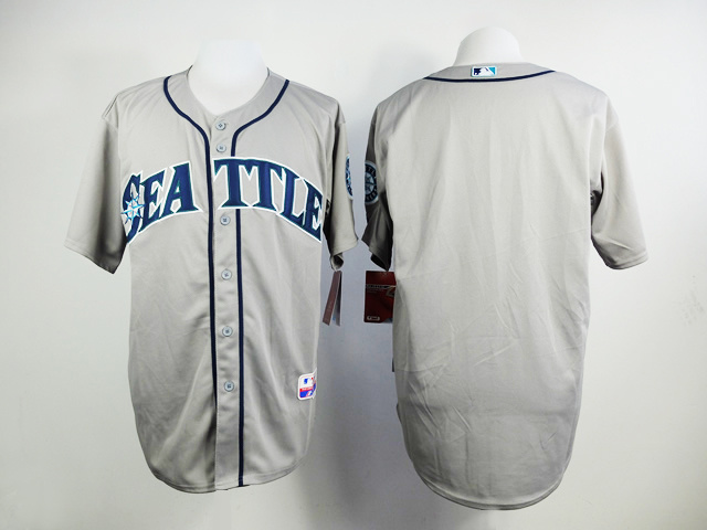 MLB Seattle Mariners Blank Grey Jerseys