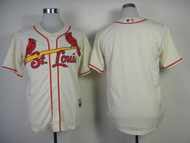 MLB St Louis Cardinals Blank Gream Jerseys