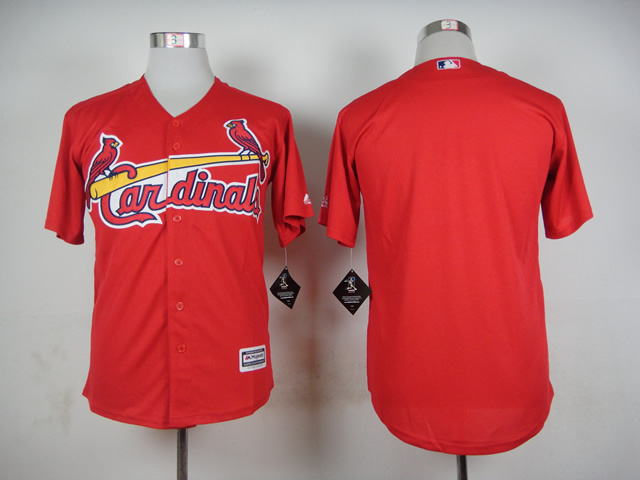 MLB St Louis Cardinals Blank Red 2015 Jerseys