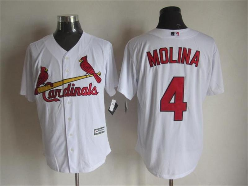 MLB St. Louis Cardinals 4 Yadier Molina White 2015 Jerseys