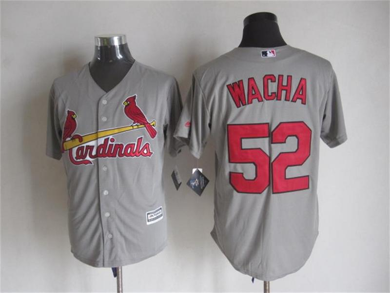 MLB St. Louis Cardinals 52 Michael Wacha Gray 2015 Jerseys