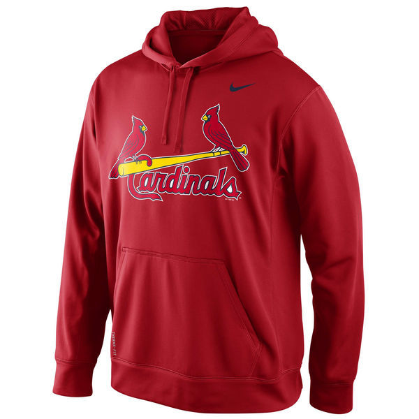 MLB St. Louis Cardinals Nike Men's KO Wordmark Perfomance Hoodie - Red