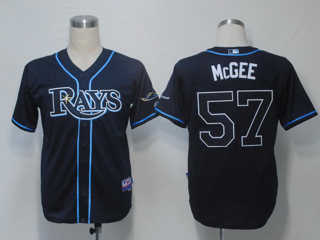 MLB Tampa Bay Rays 57 Jake McGee Dark Blue Jerseys