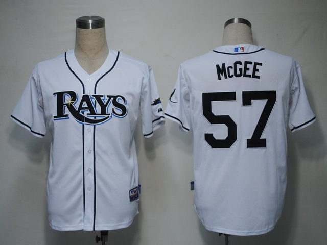 MLB Tampa Bay Rays 57 Jake McGee White Jerseys