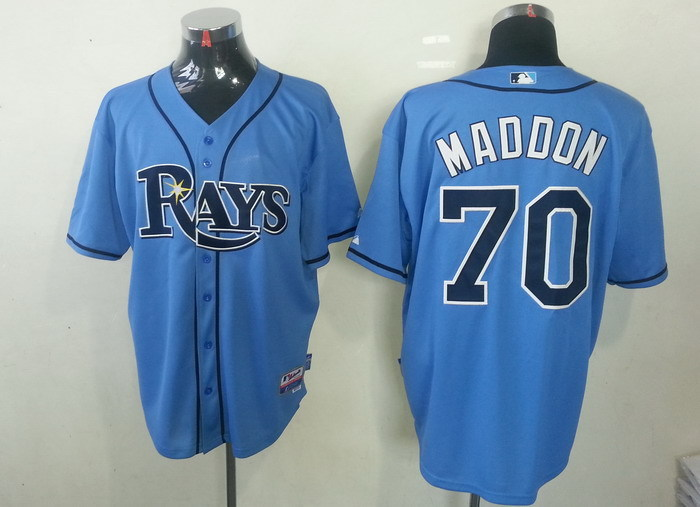MLB Tampa Bay Rays 70 Joe Maddon Light Blue Cool Base Jerseys