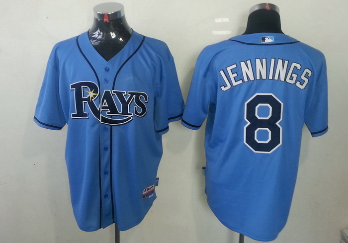 MLB Tampa Bay Rays 8 Desmond Jennings Light Blue Cool Base Jerseys