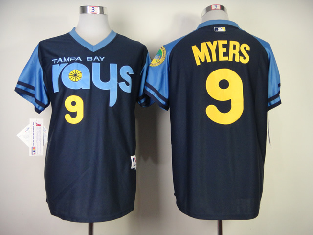 MLB Tampa Bay Rays 9 Wil Myers 1970's Turn Back The Clock Jersey