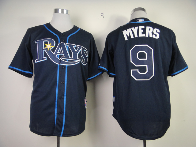 MLB Tampa Bay Rays 9 Wil Myers Dark Blue Jerseys
