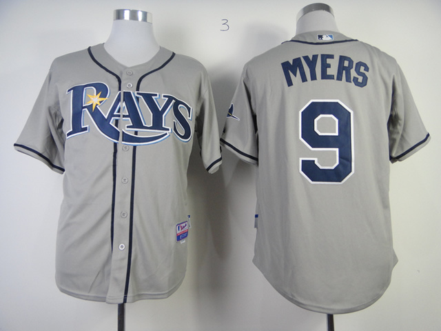 MLB Tampa Bay Rays 9 Wil Myers Grey Jerseys