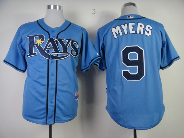 MLB Tampa Bay Rays 9 Wil Myers Light Blue Jerseys