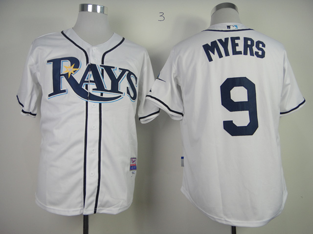 MLB Tampa Bay Rays 9 Wil Myers White Jerseys