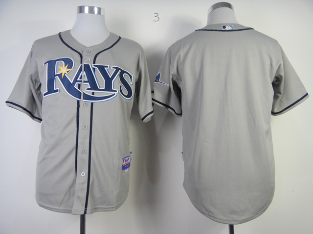MLB Tampa Bay Rays Bank Grey Cool Base Jersey