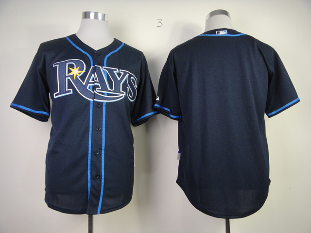 MLB Tampa Bay Rays Blank Dark Blue Cool Base Jersey