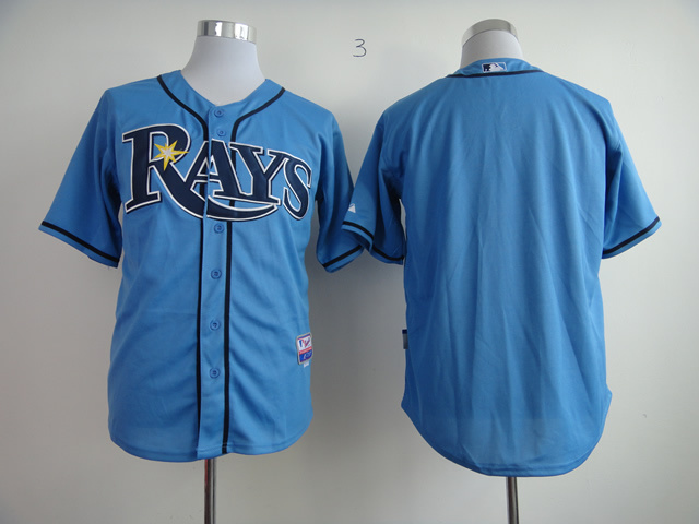 MLB Tampa Bay Rays Blank Light Blue Jersey