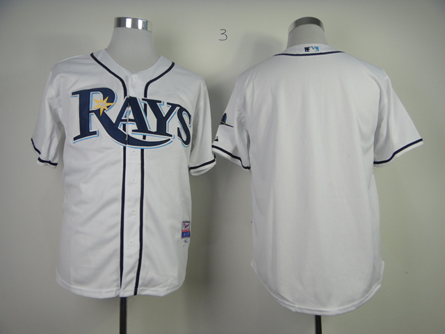 MLB Tampa Bay Rays Blank White Jerseys