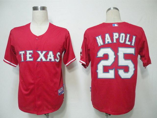 MLB Texas Rangers 25 Napoli Red Jerseys