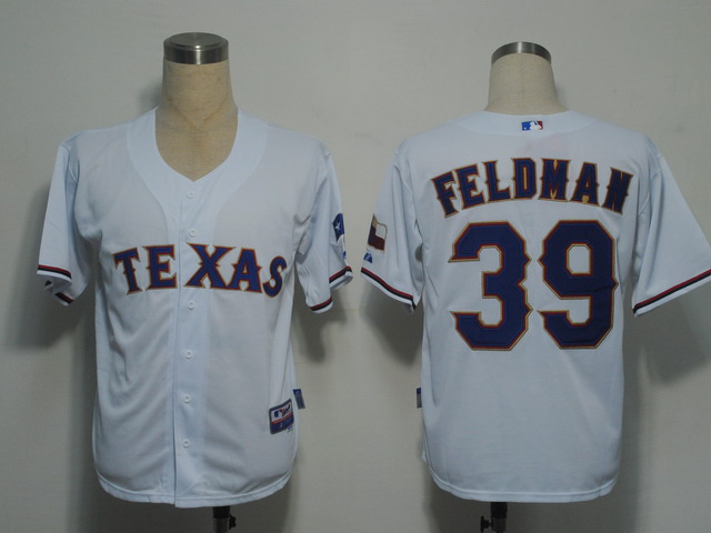 MLB Texas Rangers 39 Feldman White Jerseys