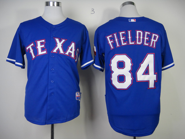 MLB Texas Rangers 84 Prince Fielder Blue Jerseys