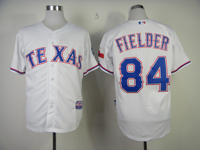 MLB Texas Rangers 84 Prince Fielder White Jerseys