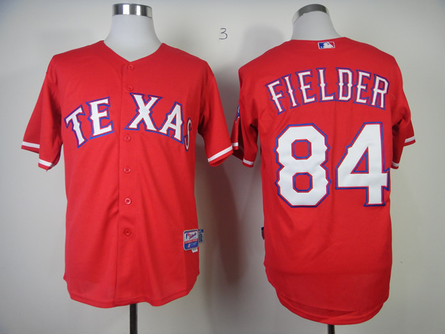 MLB Texas Rangers 84 Prince Fielder red Jerseys